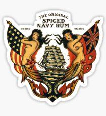 double mermaid naval art design Sticker