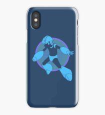Retro Blue Hero iPhone Case/Skin