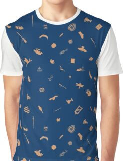Blue and Bronze Graphic T-Shirt