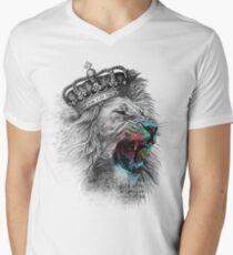 King Lion Men's V-Neck T-Shirt