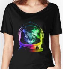 Astronaut Cat Women's Relaxed Fit T-Shirt