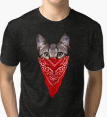 Gangster Cat Tri-blend T-Shirt