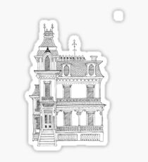 Victorian House Sticker