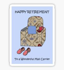 Happy Retirement to Mail Carrier Sticker