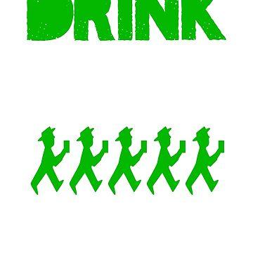 Drink Until You're A Gallagher Irish Design by MichaelAndrewLo