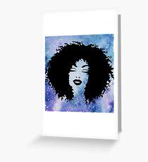 Galaxy Babe Greeting Card