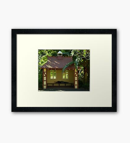 Sleepy Sunny Day, Botonic Gardens Geelong Framed Print