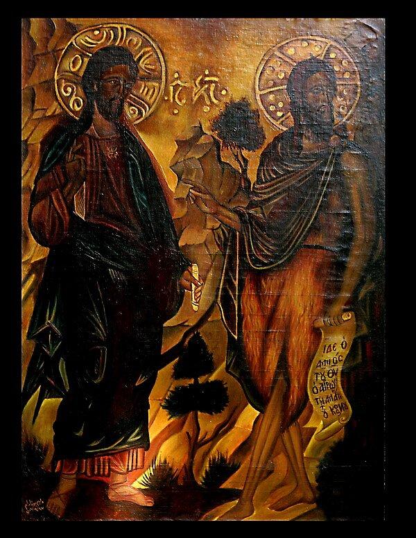 Jesus and John by William Younadam