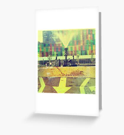 yellow city Greeting Card