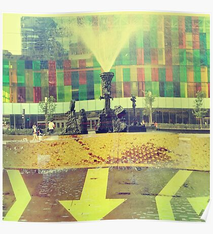 yellow city Poster