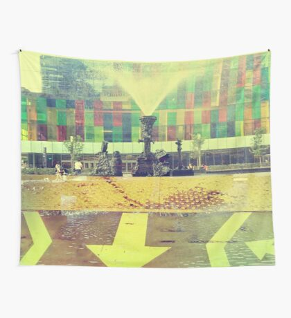 yellow city Wall Tapestry