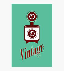 Vintage camara Photographic Print