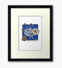 Space cat Framed Print