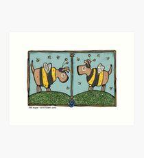 Bee doggies Art Print