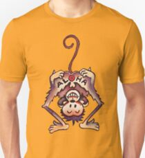 cartoon design of a cheeky monkey Unisex T-Shirt