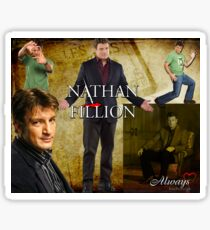 Nathan Fillion Sticker