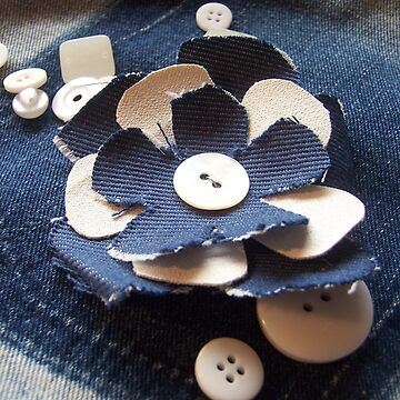 Denim Flower and Buttons by nichohn