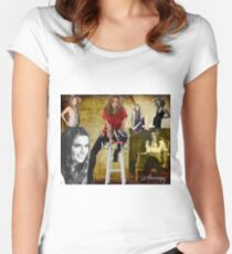 Stana Katic Women's Fitted Scoop T-Shirt