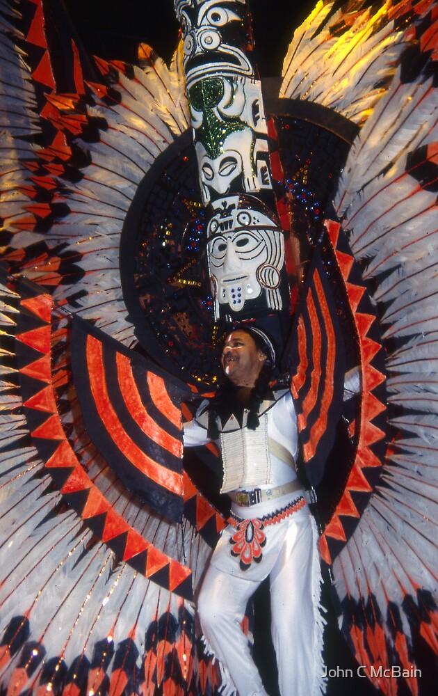 Mayan dancer by John C McBain