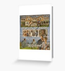 Castle - Murder, he wrote Greeting Card