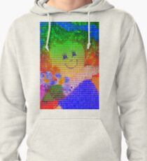 Doll in a blue hat  Pullover Hoodie