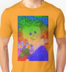 Doll in a blue hat  Unisex T-Shirt