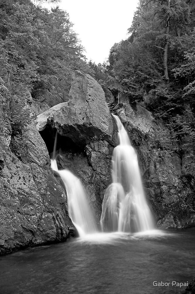 Upstate waterfall view 1. by Gabor Papai