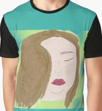 Red Lip Brunette Graphic T-Shirt