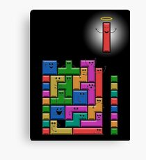 Tetris Excitement Canvas Print
