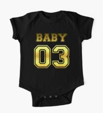 Numbered FAMILY : BABY 03 GOLD Kids Clothes