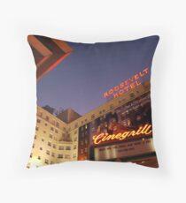 roosevelt hotel Throw Pillow