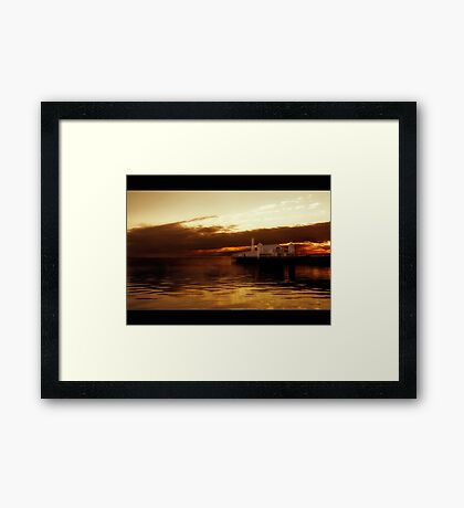 Geelong's Lightshow Framed Print