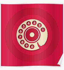 Vintage Red Telephone Poster