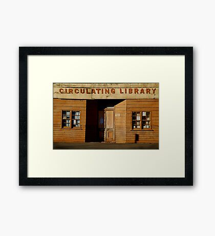 Clunes Circulating Library Framed Print