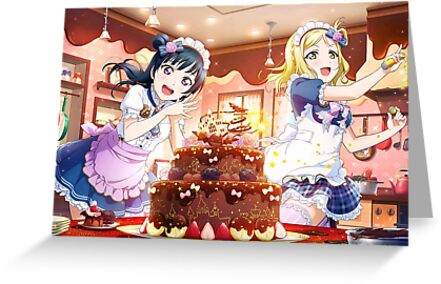 Love Live Sunshine Sweet Shiny Valentine Greeting Cards By