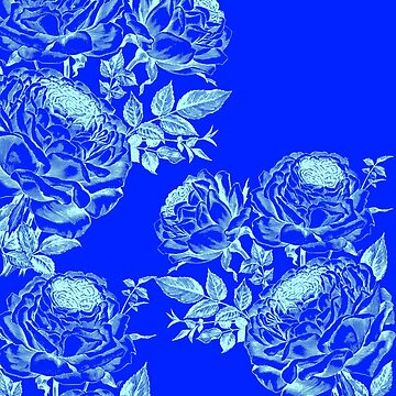 Beautiful Inverted Blue Roses  by OCDesigns2