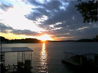 Sunset on the Lake Of The Ozarks  by candy