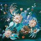 Floral on Green by Ginger Lovellette