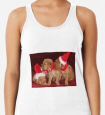 Santa Pups- Max, Buttercup, Rosie Women's Tank Top
