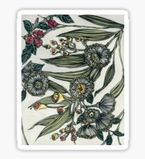 Retro Australian Native Floral 2 Sticker