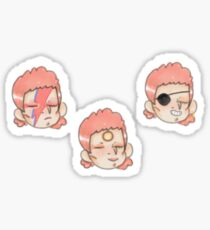 The mullet trio Sticker