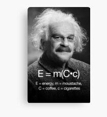 Energy = moustache (coffee * cigarettes) Canvas Print
