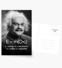 Energy = moustache (coffee * cigarettes) Postcards