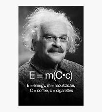 Energy = moustache (coffee * cigarettes) Photographic Print