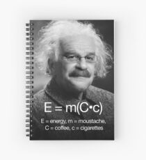 Energy = moustache (coffee * cigarettes) Spiral Notebook