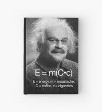 Energy = moustache (coffee * cigarettes) Hardcover Journal