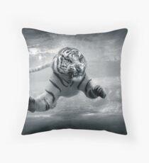 Underwater Danger Throw Pillow