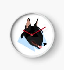 Bull Terrier Head Clock