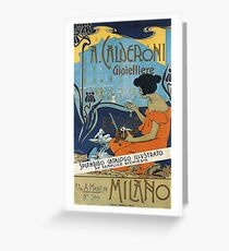 Vintage Italian Advertisement Poster - A. Calderoni Gioielliere (1898) Greeting Card
