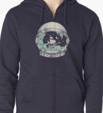 Spaceship Zipped Hoodie